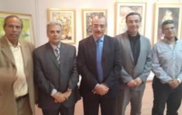 رؤساء جامعتي حلوان والقاهرة في إفتتاح معرض الفنان أ.د.أحمد خليل