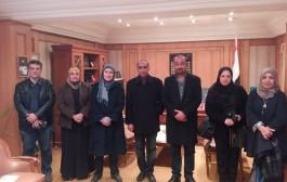زيارة وفد من كلية الفنون الجميلة جامعة بغداد