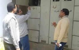 تجارب تحضيرية لتعريف أمن الكلية بأماكن مفاتيح كهرباء جميع المباني