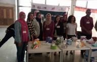 مشاركة طلاب الكلية في مسابقة بالمعرض الدولي للورق
