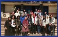 زيارة مكتب العلاقات الدولية بجامعة حلوان لكلية الفنون التطبيقية