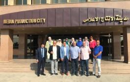 زيارة وفد من الكلية لمدينة الإنتاج الاعلامي لبحث أوجه التعاون