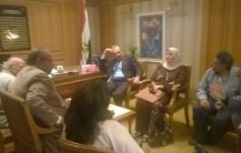 لقاء رئيس جامعة حلوان مع فريق زيارة المحاكاة لكلية الفنون التطبيقية 13/ 10/ 2015