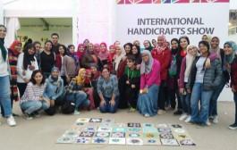 مشاركة طلاب قسم الزخرفة في المعرض الدولي للصناعات اليدويه بارض المعارض