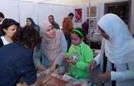 ورشة تصميم الخزف في المعرض الدولي للصناعات اليدويه بارض المعارض