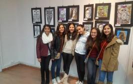 معرض فني لطلاب مدرسة مصر للغات بكلية الفنون التطبيقية