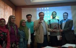 تكريم مجلس كلية الفنون التطبيقيه جامعة حلوان للطلاب الفائزين بمسابقة ستار باك بلبنان للعام ٢٠١٧