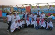 مشاركة قسم الزخرفة في مبادرة ( احلم . ارسم . لون) التي نظمتها مستشفى سرطان الاطفال ٥٧٣٥٧