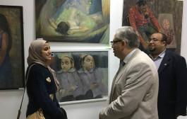 فوز طلاب الكلية في معرض الفنون التشكيلية والاسرية ال 44